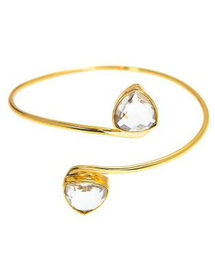 Bangle_D Clear Quartz
