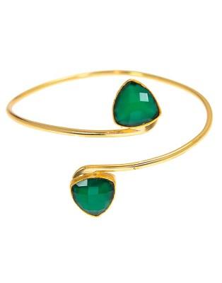 Bangle_D Green Onyx