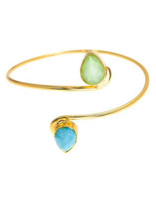 Bangle_D Green_Turquoise
