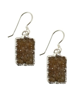 Earring_Brown silver