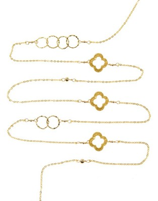 L Necklace_gold C & Clover