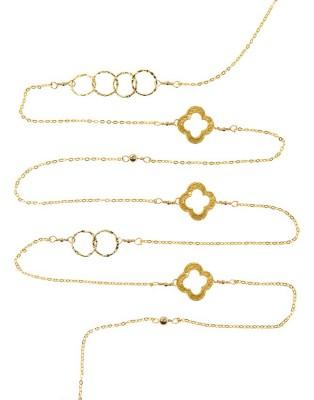 L Necklace_gold C & Clover