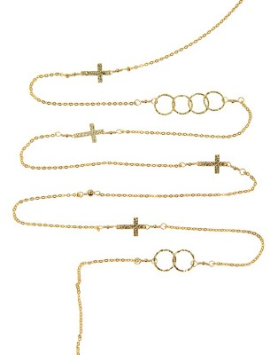 L Necklace_gold C & Cross