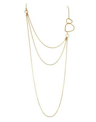 L Necklace_gold triple chain