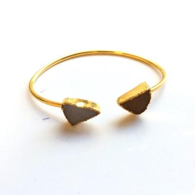 d gray triangle bangle
