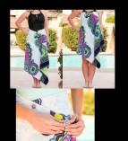 cfde9b12e2 Simple Sarongs Jewels Cover-up Sarong - Aqua Sky Boutique